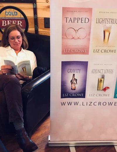 Liz at a book signing